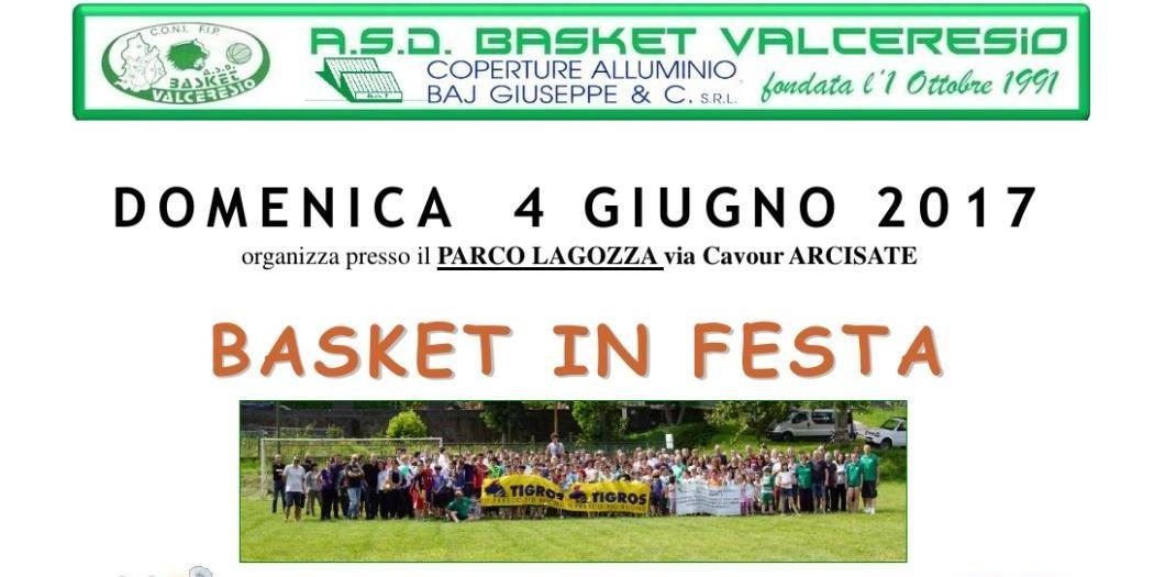 FESTA del BASKET VALCERESIO:  4 GIUGNO 2017