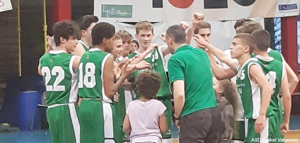 U14 sedicesimi finale regionale: Alto Sebino 47 vs Valceresio 72